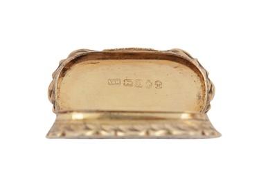 Lot 19 - A Victorian sterling silver gilt vinaigrette, Birmingham 1846 by Yapp & Woodward