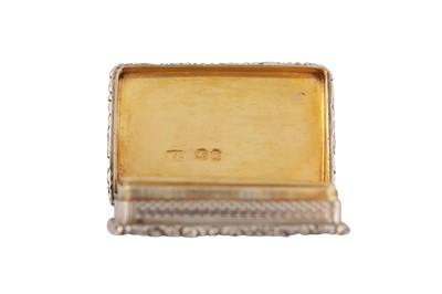 Lot 26 - A William IV sterling silver vinaigrette, London 1835 by Joseph Perkins II (reg. March 1834)