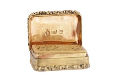 Lot 17 - A George III sterling silver gilt vinaigrette, Birmingham 1819 by John Shaw
