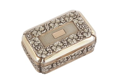 Lot 1 - A private collection of snuff boxes and vinaigrettes, lot 1-33: A George III silver gilt snuff box, London 1813 by Thomas Pemberton and Robert Mitchell (reg. 21st July 1813)