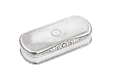 Lot 6 - A George IV sterling silver snuff box, London 1828 by Edward Edwards II