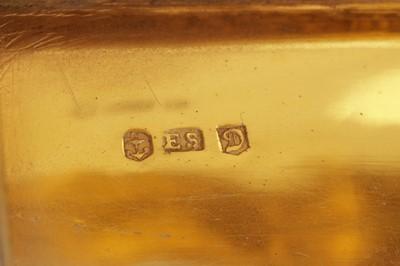 Lot 2 - A George IV sterling silver gilt snuff box, Birmingham 1827 by Edward Smith