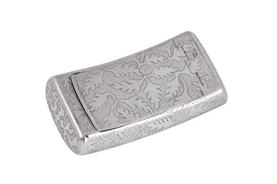 Lot 9 - A George III sterling silver snuff box, Birmingham 1807 by Samuel Pemberton