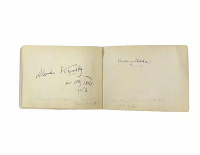 Lot 819 - Autograph Album.- Miscellaneous