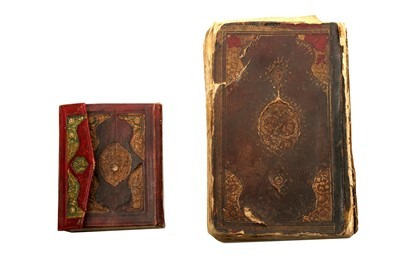 Lot 334 - A BOOK OF PROTECTION PRAYERS (HIRZ) AND AN INCOMPLETE QUR'AN