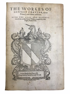 Lot 537 - Chaucer (Geoffrey) The workes of