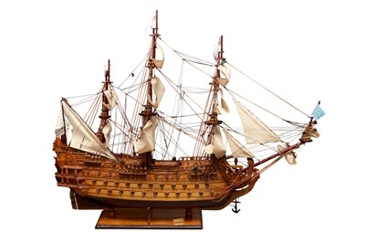 Lot 84 - A SCALE MODEL OF THE SOLEIL ROYAL (1669)