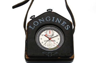 Lot 5 - A RARE OFFICIAL LONGINES SPLIT SECONDS STOP WATCH CHRONOGRAPH FOR THE OLYMPICS