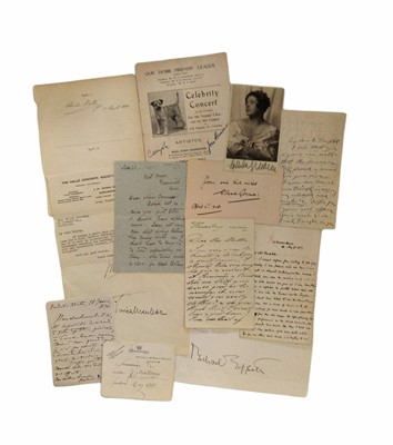 Lot 826 - Autograph Collection. - Musicians and Composers