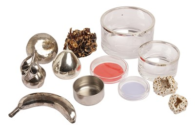 Lot 72 - A COLLECTION OF SILVERED METAL FRUIT, CONTEMPORARY