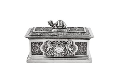 Lot 63 - A Victorian sterling silver commemorative box, London 1897 by John Marshall Spink (Spink & Son)