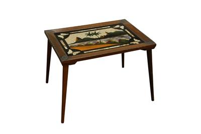 Lot 95 - TAXIDERMY/ ENTOMOLOGY: BUTTERFLY WINGS TABLE, EARLY-MID 20TH CENTURY