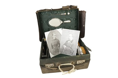 Lot 40 - A VICTORIAN TRAVELLING VANITY CASE