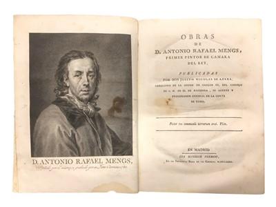 Lot 502 - Art & Literature.- Mengs  & de Azar Obras de D. Antonio Rafael Mengs