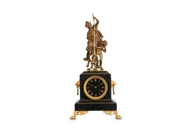 Lot 281 - A LATE 19TH CENTURY GILT METAL AND BLACK...