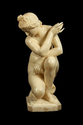 Lot 1 - A LARGE 19TH CENTURY ITALIAN CARVED ALABASTER...