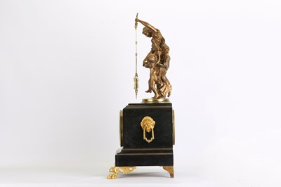 Lot 215 - A LATE 19TH CENTURY GILT METAL AND BLACK...