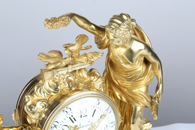 Lot 186 - A LATE 19TH CENTURY FRENCH GILT BRONZE AND...