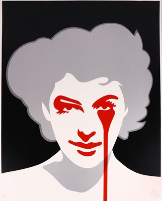 Lot 8-Pure Evil (British, b.1968), 'Ava Gardner aka Frank Sinatra's Nightmare (Silver)'