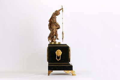 Lot 293 - A LATE 19TH CENTURY GILT METAL AND BLACK...
