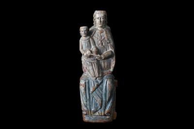 Lot 1 - A 15TH CENTURY SOUTH GERMAN CARVED AND...