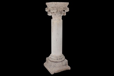 Lot 5 - A FRENCH CARVED STONE COLUMN, POSSIBLY 16TH...