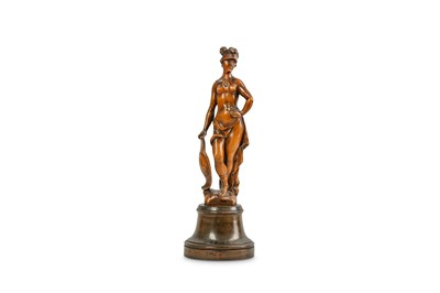 Lot 24 - A 17TH CENTURY FLEMISH CARVED BOXWOOD FIGURE...