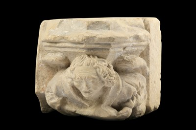 Lot 4 - A LATE 15TH CENTURY FRENCH CARVED LIMESTONE...