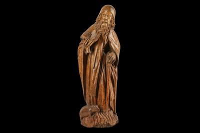 Lot 7 - A LATE 15TH CENTURY GERMAN CARVED WALNUT...