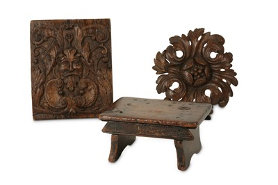 Lot 45 - A 17TH CENTURY CARVED OAK RELIEF DEPICTING THE...