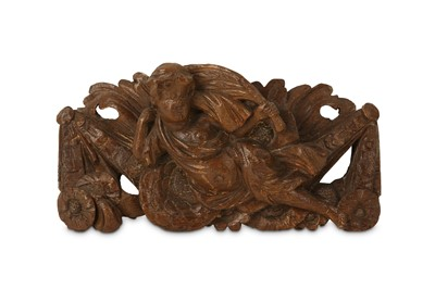 Lot 44 - A 17TH CENTURY CARVED OAK RELIEF DEPICTING A...