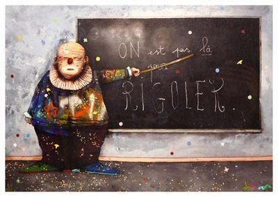 Lot 75-Dran (French b.1979), 'On Est Pas La Pour Rigoler'
