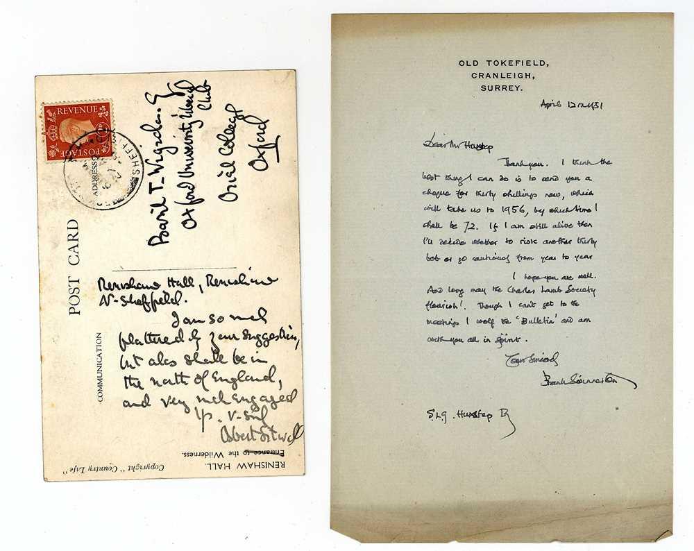 Lot 1421 - Autograph Album.- Authors and Politicians