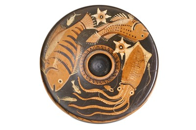 Lot 76 - AN AFTER THE ANTIQUE FISH PLATE In the style...