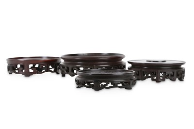 Lot 371 - FOUR CHINESE HONGMU STANDS.
