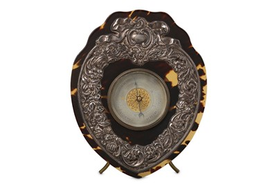 Lot 48 - A LATE 19TH CENTURY TORTOISESHELL AND SILVER...
