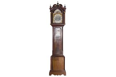 Lot 30 - A FINE GEORGE III MAHOGANY LONGCASE CLOCK WITH...