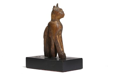 Lot 8 - AN EGYPTIAN WOOD CAT Late Period, Circa 664 -...