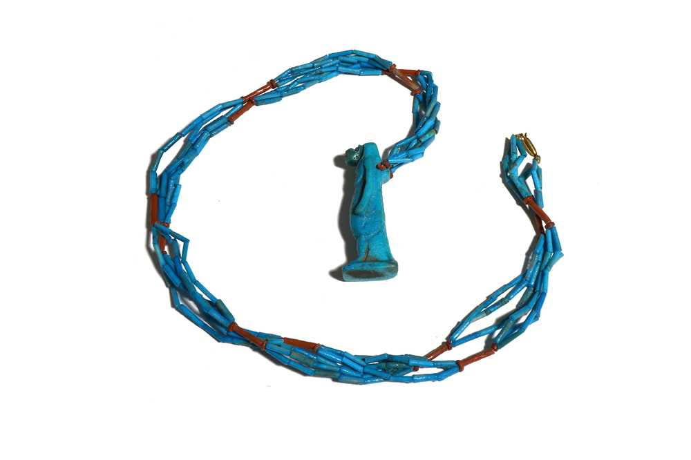 Lot 30 - AN EGYPTIAN MUMMY BEAD NECKLACE Late Period,...
