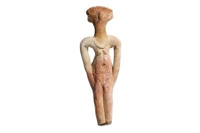 Lot 5 - AN EGYPTIAN TERRACOTTA HYKSOS CONCUBINE FIGURE...