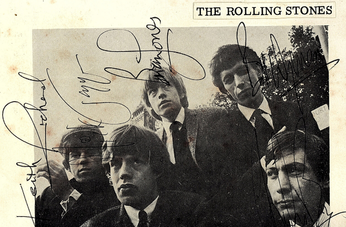 Autographs of the Rolling Stones