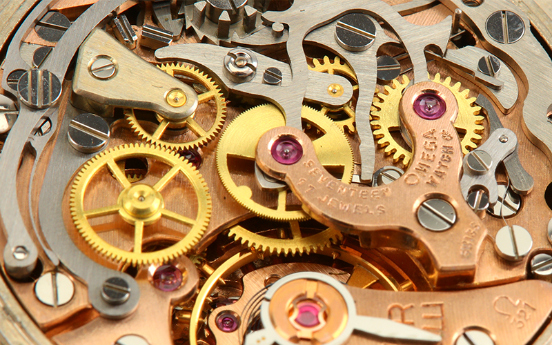 Close up of clocks mechanic