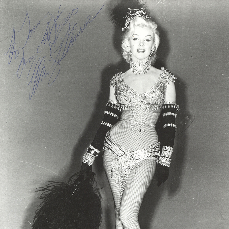 Photo of Marilyn with Autograph